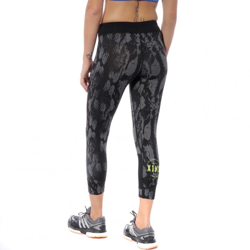 Flash Femme Pantacourt Fitness Noir Xinx