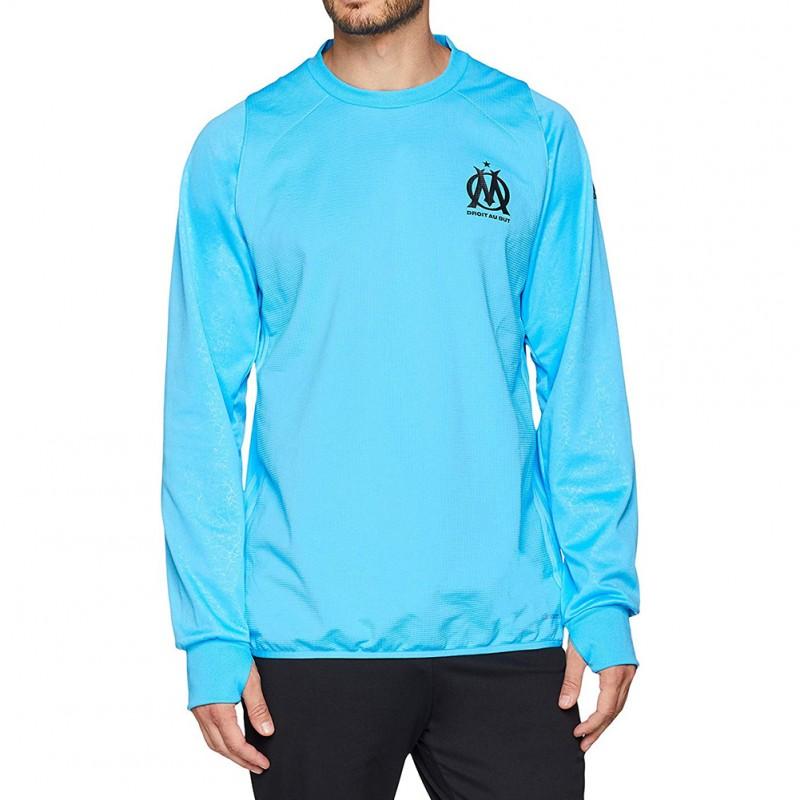 OM Homme Sweat Polaire Football Bleu Adidas