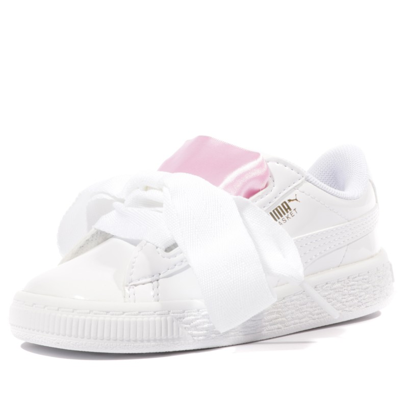 Chaussures Blanc Fille Puma Heart Patent Inf f7Yb6vgy