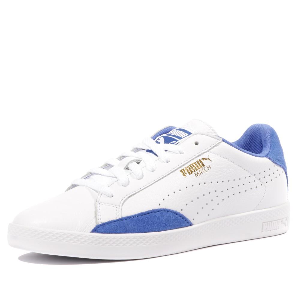 puma blanche et bleu