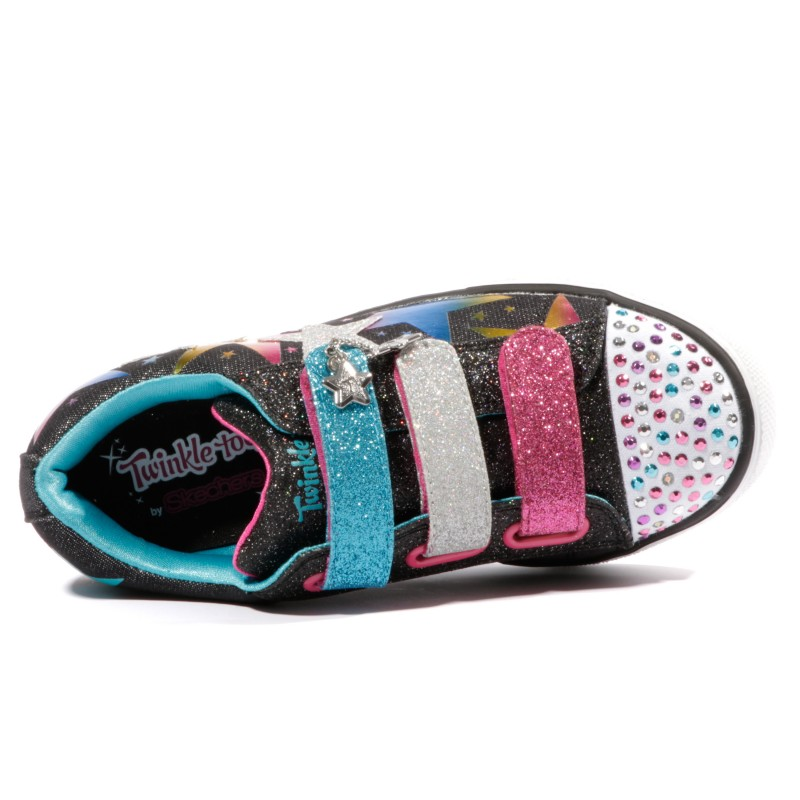 Fille Twinkle Breeze Led Lumineuses B0qqzwv Chaussures Noir Skechers 4X8wBw