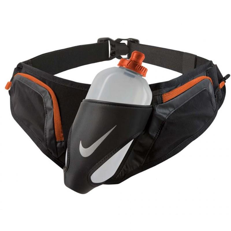Double Flask Belt 20OZ Ceinture Gourde Running Noir Orange Nike 80a66170834