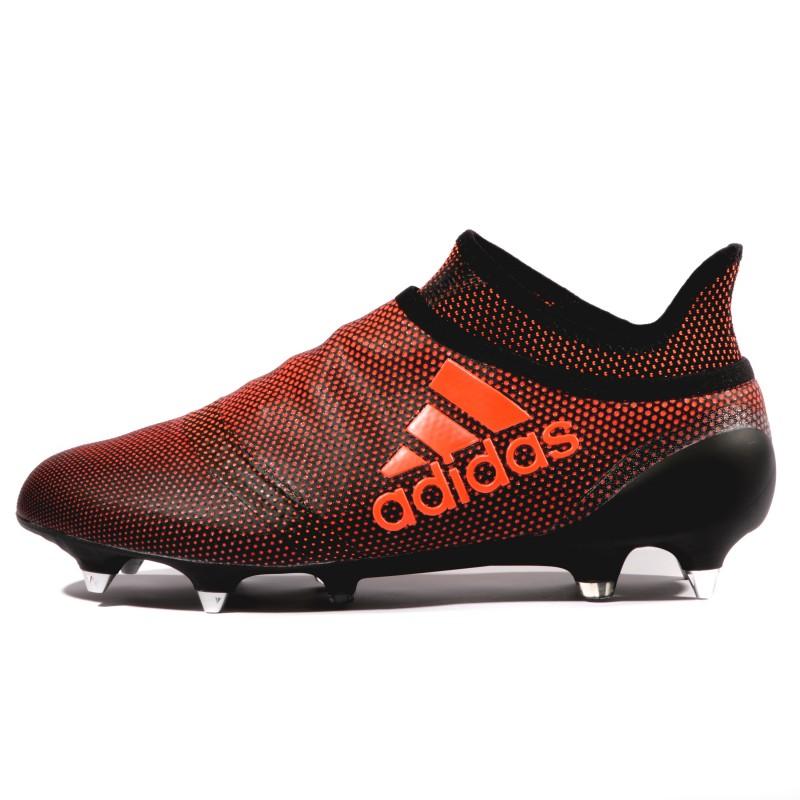 X 17+ Purespeed SG Homme Chaussures Football Noir Rouge Adidas