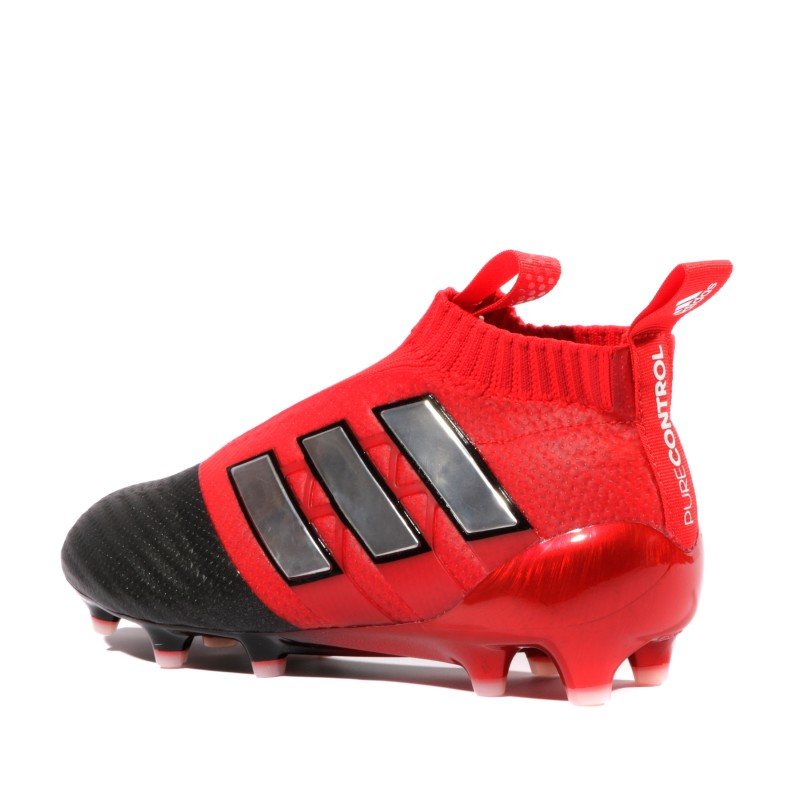 speical offer shopping nice shoes Ace 17+ Purecontrol FG Garçon Chaussures Football Noir Rouge Adidas