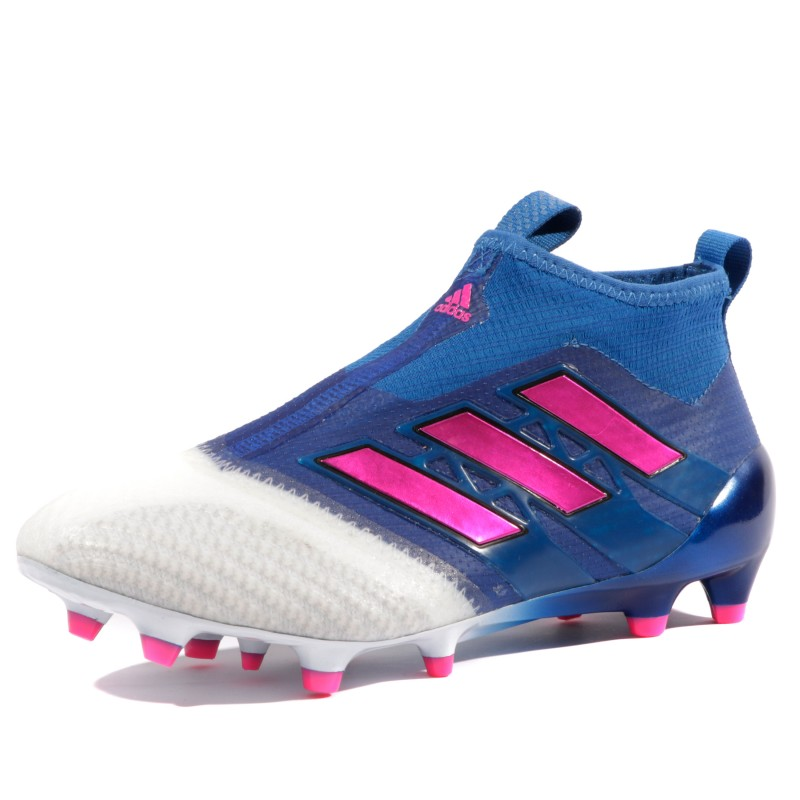 cheapest half price huge sale Ace 17+ Purecontrol FG Garçon Chaussures Football Bleu Blanc Adidas