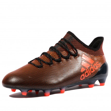 X 17.1 FG Homme Chaussures Football Noir Rouge Adidas