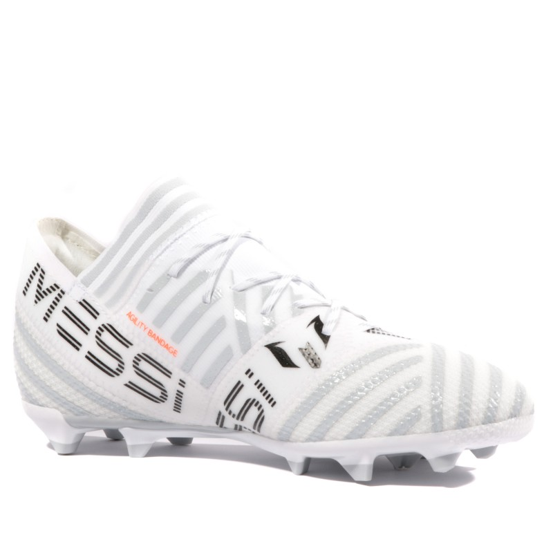 Nemeziz Messi 17.1 FG Garçon Chaussures Football Blanc Adidas
