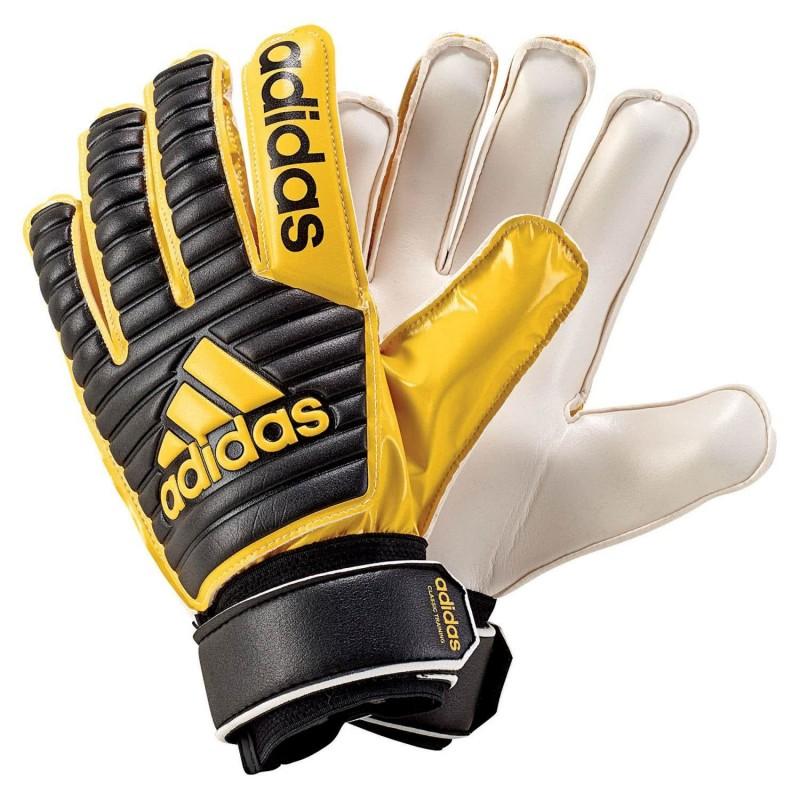 Football Training Adidas Noir Classic Gants Jaune 7gybvfIY6