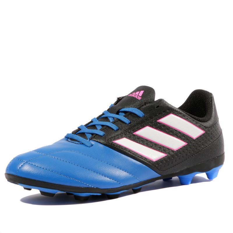 Ace 17.4 FxG Garçon Chaussures Football Bleu Noir Adidas