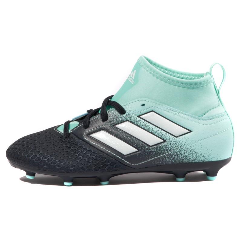 Ace 17.3 FG Garçon Chaussures Football Noir Bleu Adidas