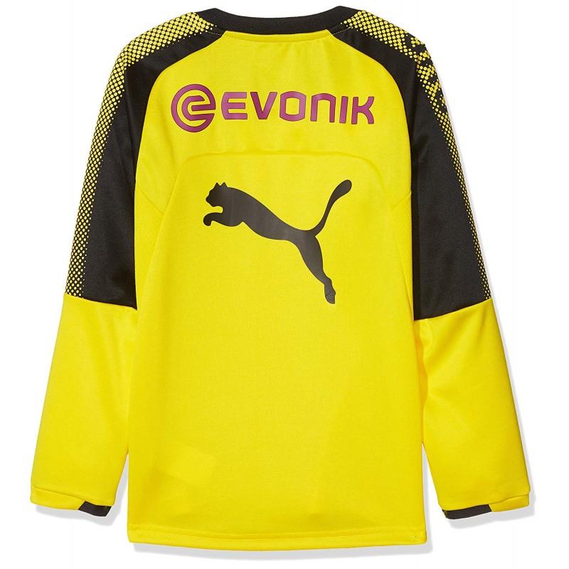 borussia dortmund gar on pull training football jaune puma. Black Bedroom Furniture Sets. Home Design Ideas
