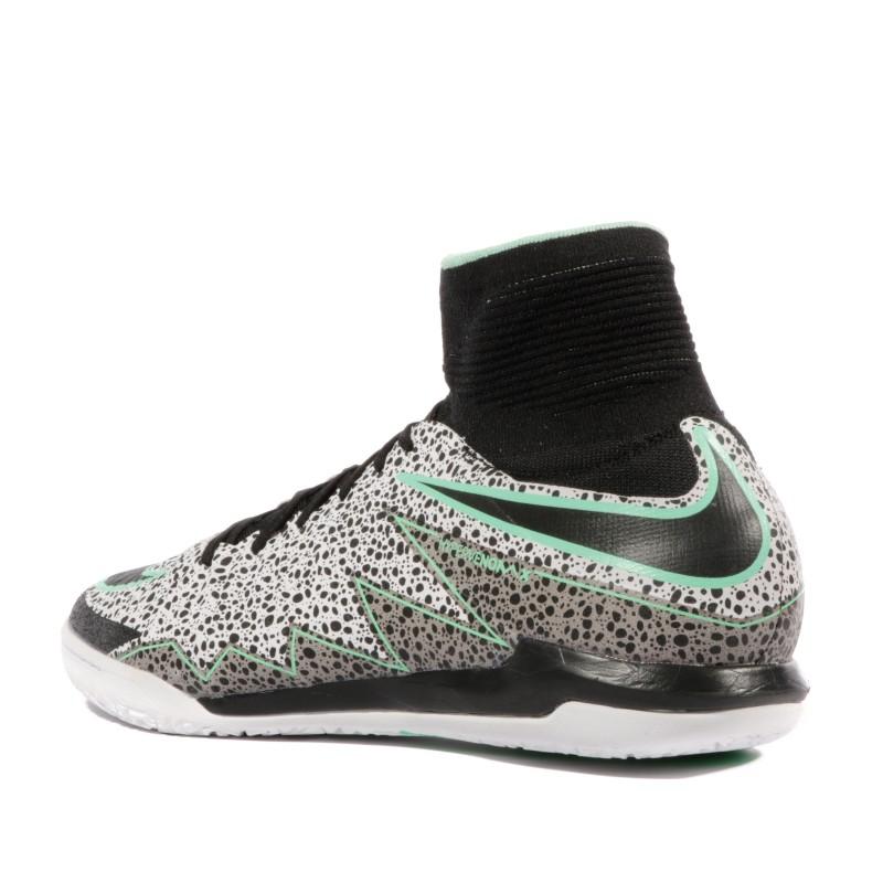 Hypervenomx Proximo IC Homme Chaussures Futsal Gris Noir Nike