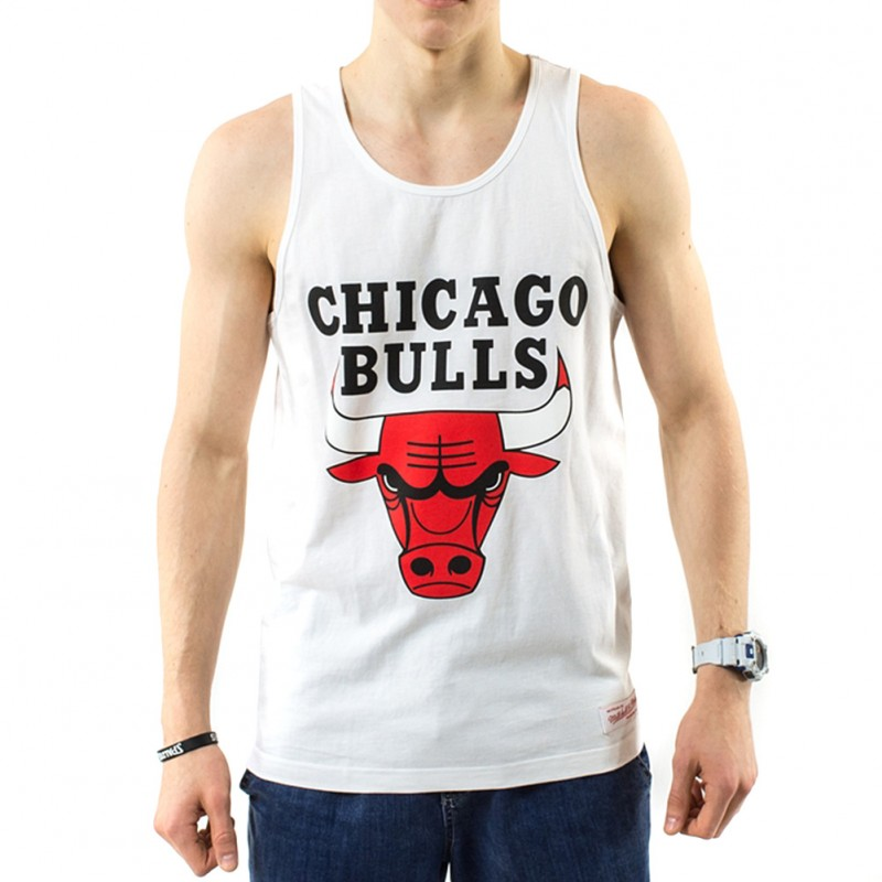 Bulls Ness Basketball Blanc Débardeur And Michell Homme Chicago DbE29IeHWY