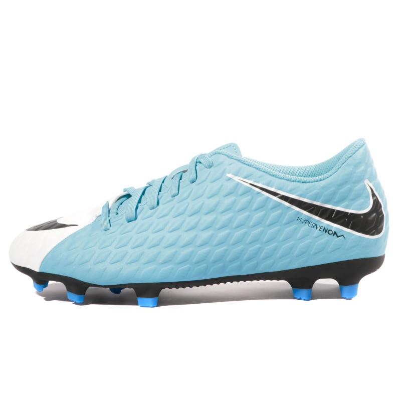 Hypervenom Phade III FG Homme Chaussures Football Blanc Bleu Nike