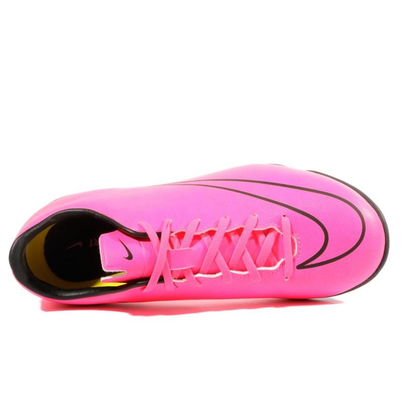 Mercurial Victory V TF Garçon Chaussures Futsal Rose Nike