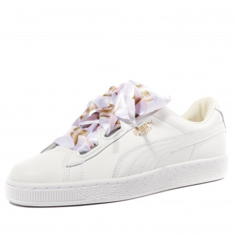 Heart Geo Camo Femme Chaussures Blanc Puma