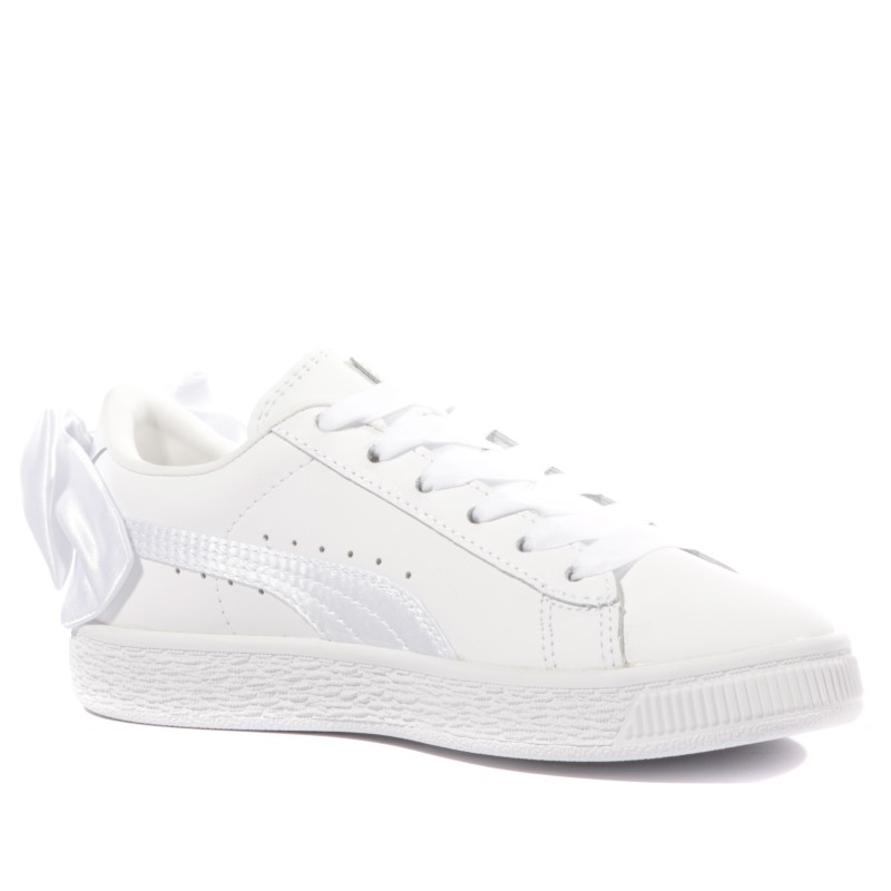 Bow AC PS Fille Chaussures Blanc Puma