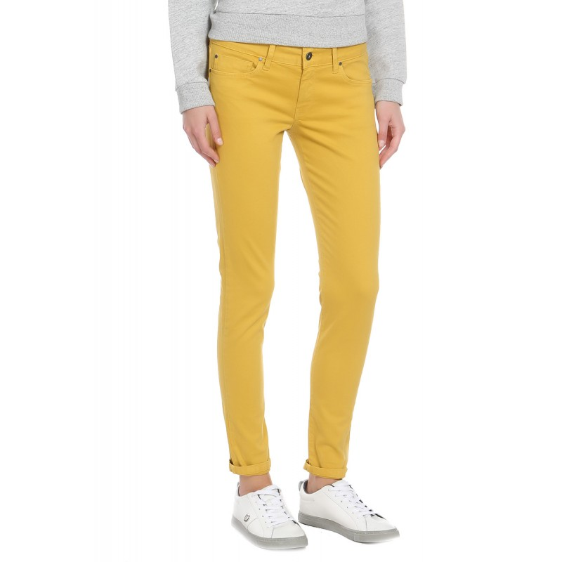 Soho Jeans Chino Pépé Slim Femme Pantalon Ocre ymvwn08NO