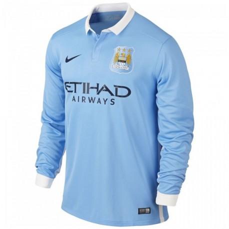 Manchester City Stadium Homme Maillot Football Bleu Nike