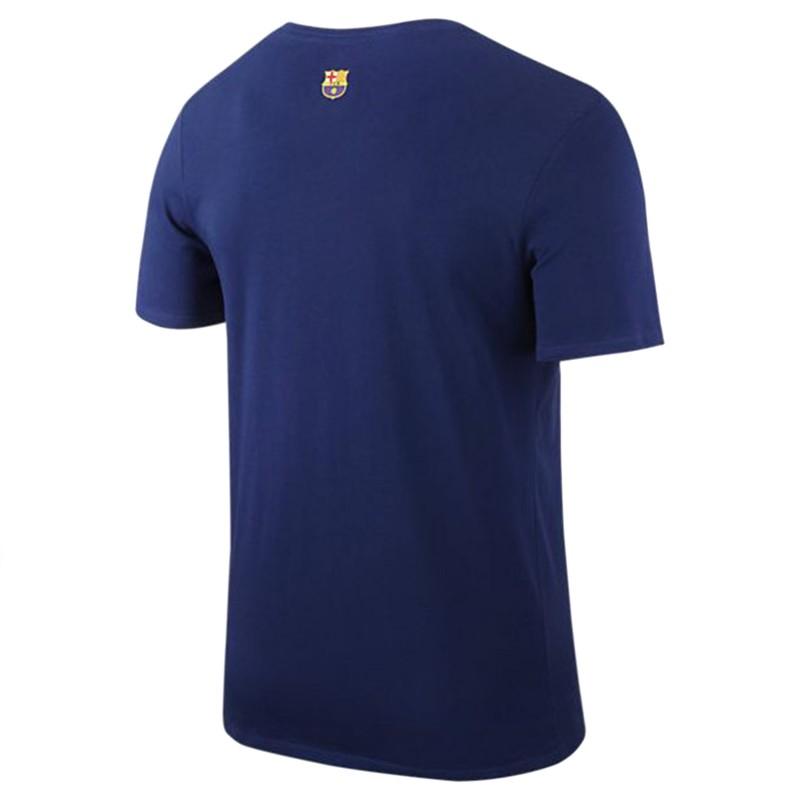 Barcelone Homme Tee Shirt Bleu Nike