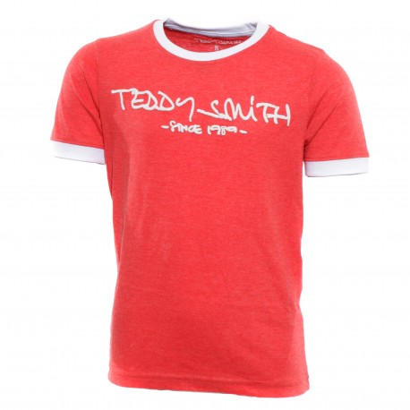 ticlass gar on tee shirt rouge teddy smith. Black Bedroom Furniture Sets. Home Design Ideas