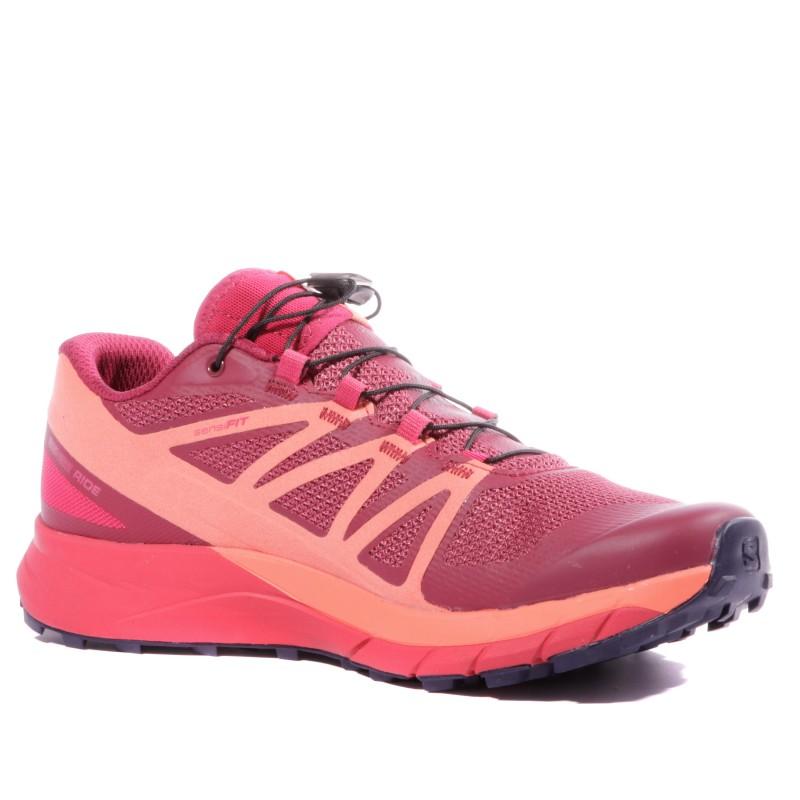 Chaussures trail rose femme Salomon