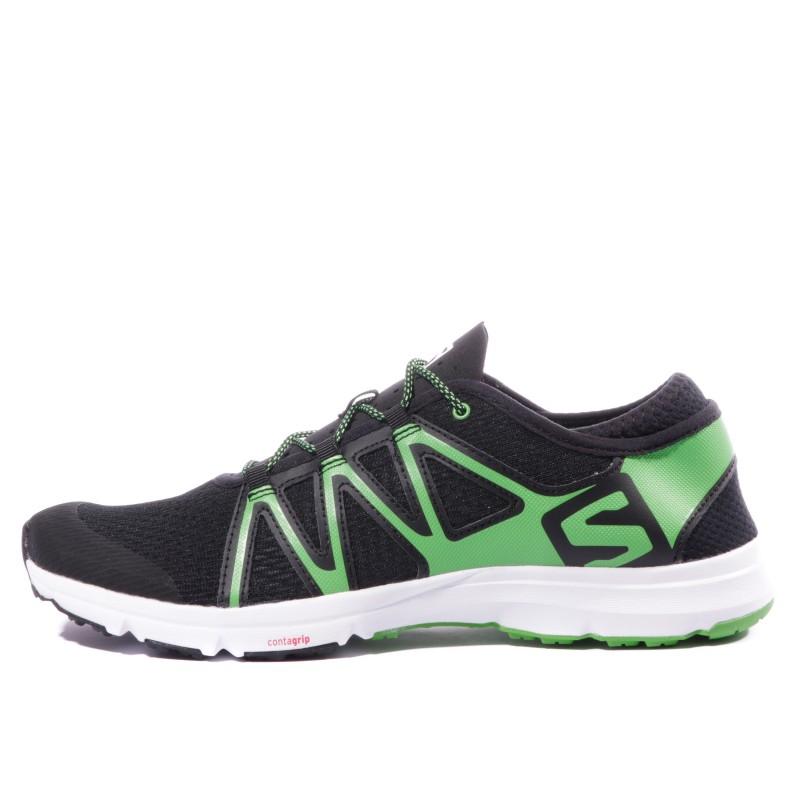 Homme Chaussures Swift Running Noir Crossamphibian Salomon Vert AL5Rj43