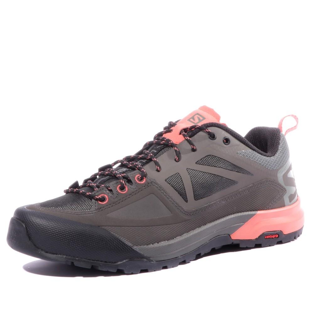 Détails sur Salomon X Alp Femmes Chaussures Trekking Gris Rose Chaussures De Randonnée approche Bottes NOUVEAU afficher le titre d'origine