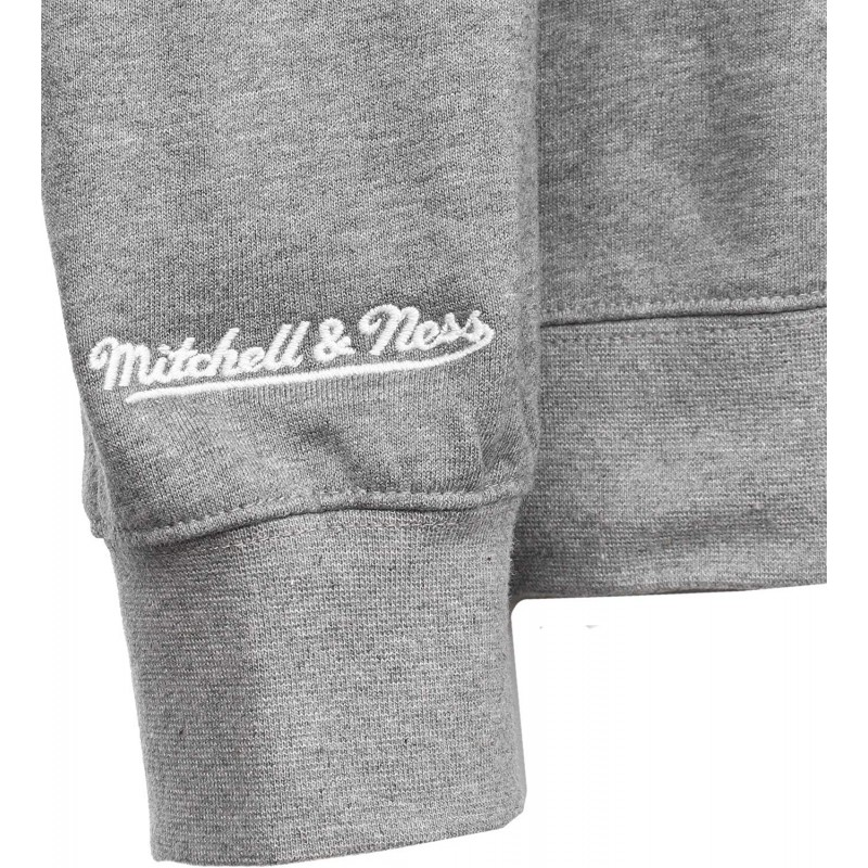 Logo Craw Homme Sweat Gris Mitchell and Ness