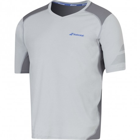 Crew Neck Performance Homme Maillot Tennis Blanc Babolat