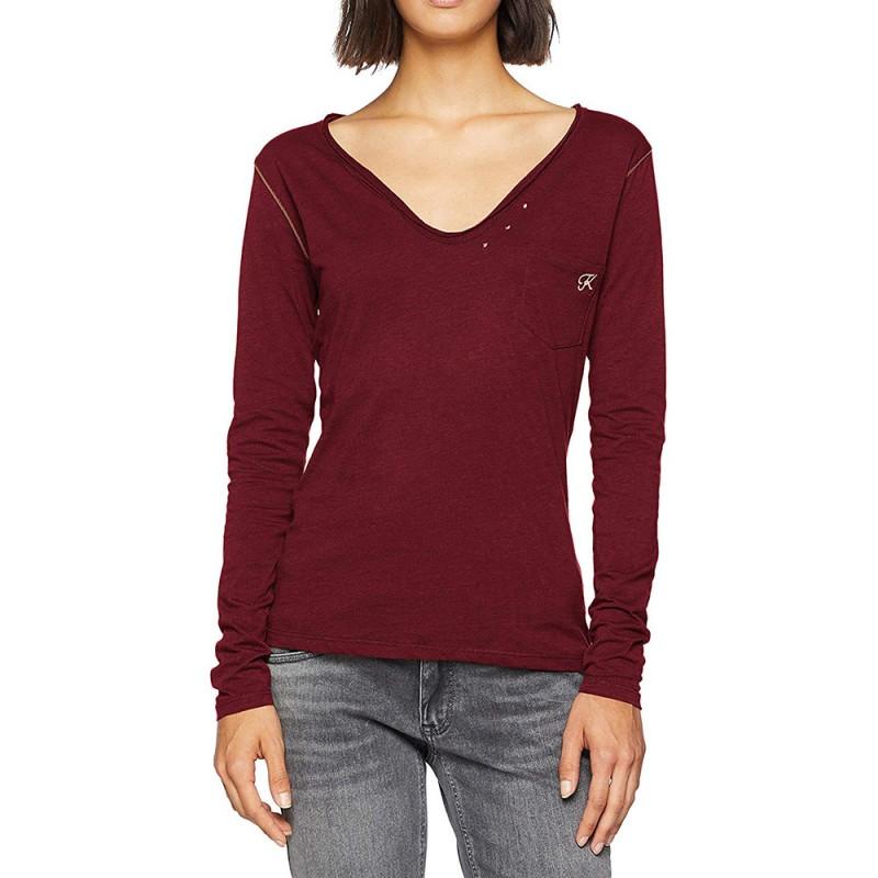 Tanio Femme Tee-shirt Bordeaux Kaporal