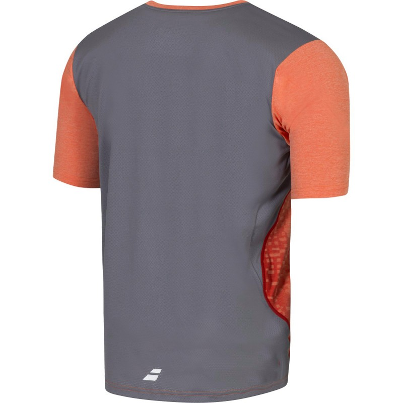 V-Neck Performance Homme Maillot Tennis Orange Babolat