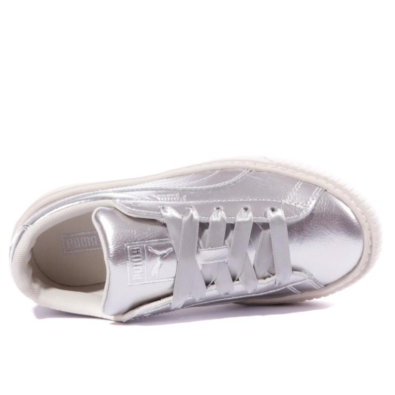 Chaussures Gris Platform Fille Suede Métal Ps Puma gYby6f7