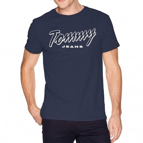 TJM Summer script Homme Tee-shirt Marine Tommy Hilfiger
