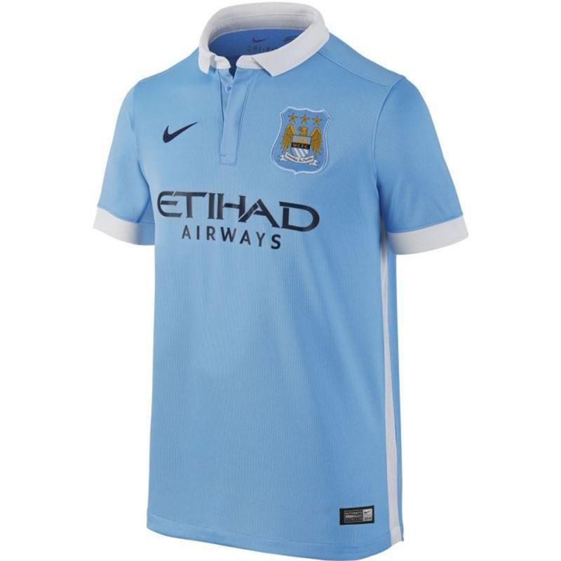 Manchester City Stadium Garçon Maillot Football Bleu Nike