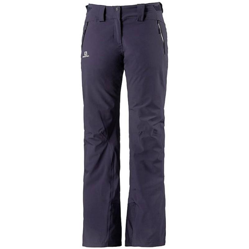 Iceglory Pant Femme Pantalon Ski Violet Salomon