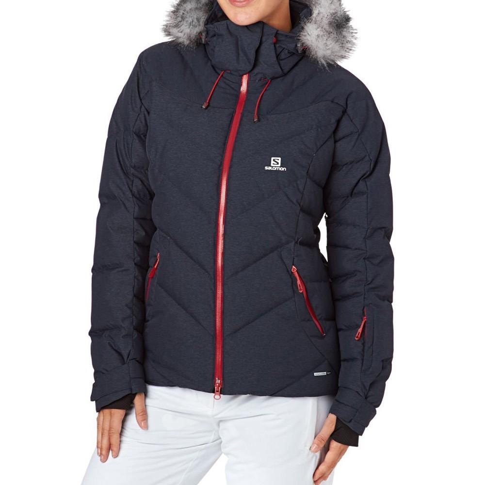 Détails sur Icetown Femme Blouson de Ski Marine Salomon Bleu