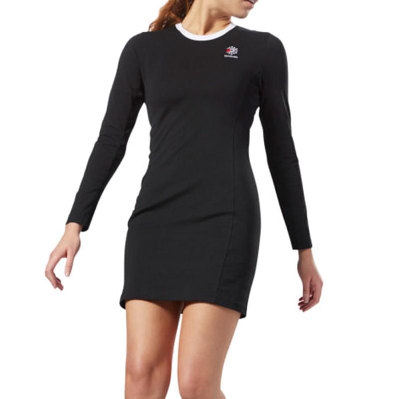 Robe Femme Dress Reebok Noir Ac R5q3AjL4