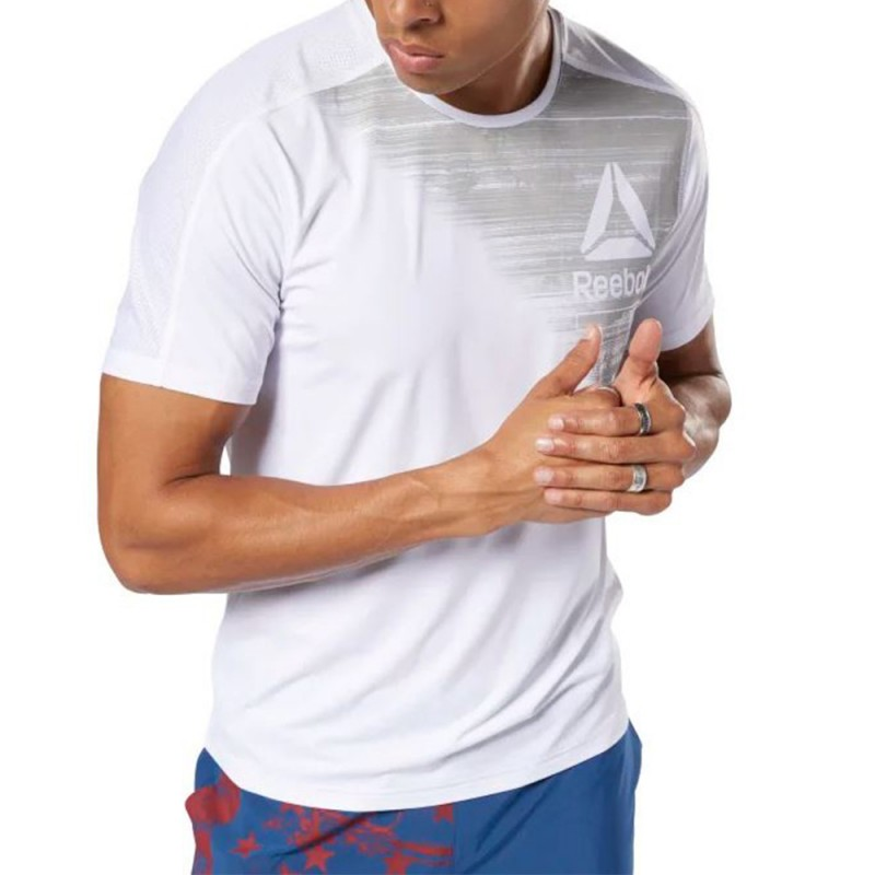 Graphic Tee Blanc Homme Reebok Shirt Fitness Move BQCthrdxs