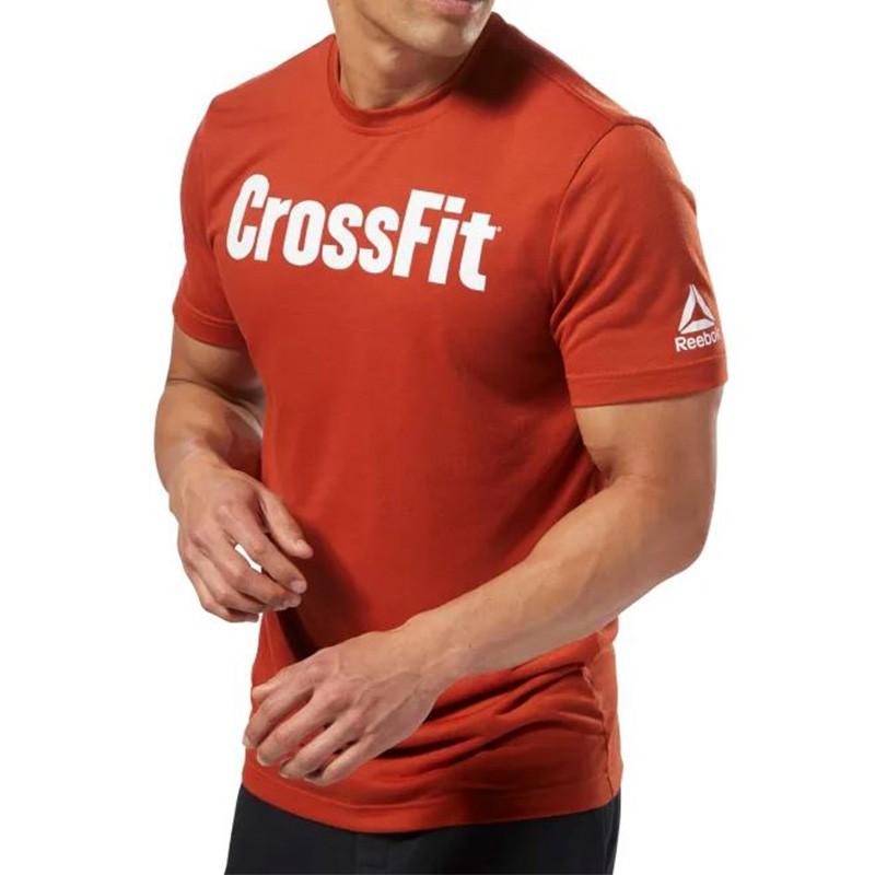 Crossfit Homme Tee shirt Fitness Orange Reebok