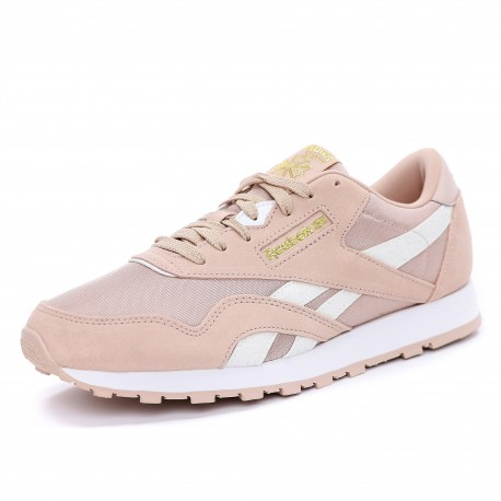 Classic Fille Femme Chaussures Rose Reebok