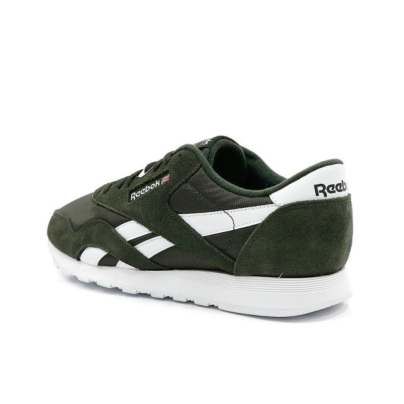 Classic Nylon Homme Chaussures Vert Reebok