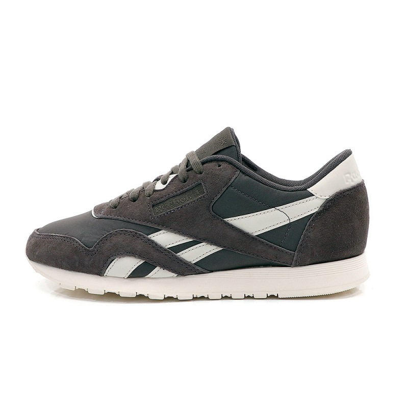 Femme Gris Reebok Nylon Chaussures Classic oedCxQrBW
