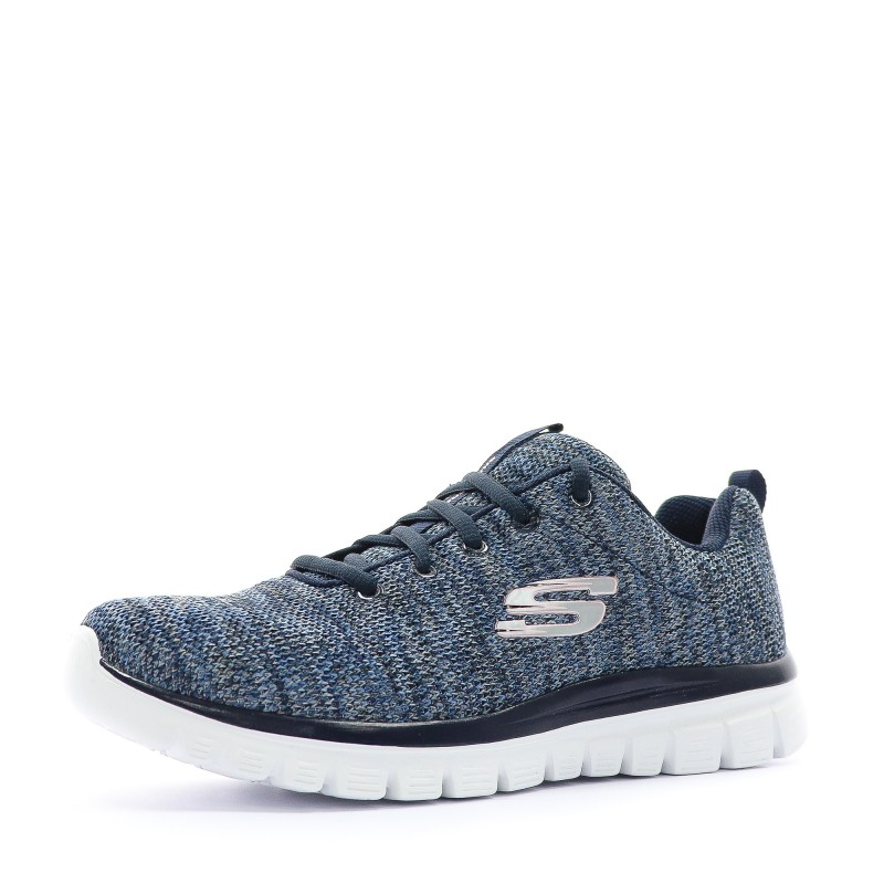 Graceful Twisted Femme Chaussures Sport Bleu Skechers