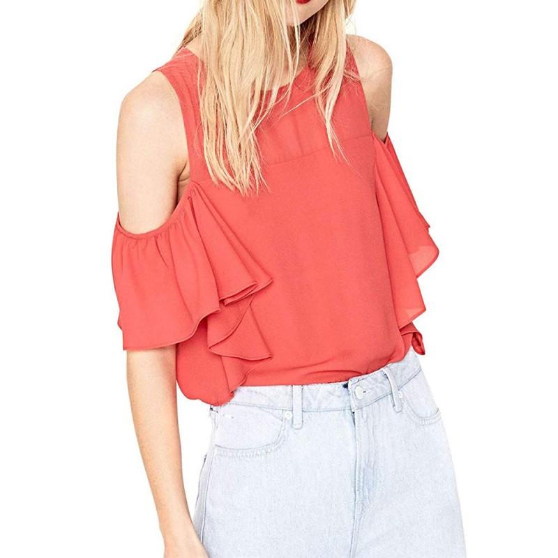 mode design de qualité vente énorme Mina Femme Blouse Orange Pépé Jeans