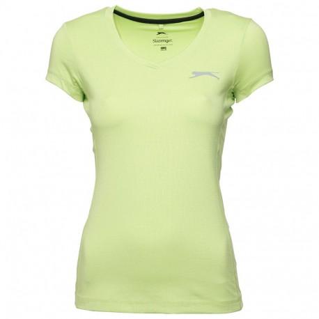 Dawn Femme Tee-shirt Sport Vert Slazenger