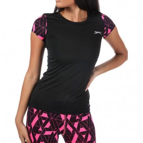 Felix V2 Femme Tee-shirt Sport Noir Slazenger