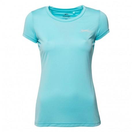 Felix Femme Tee-shirt Sport Bleu Slazenger