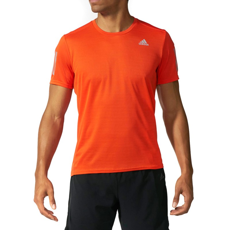 t shirt adidas orange homme