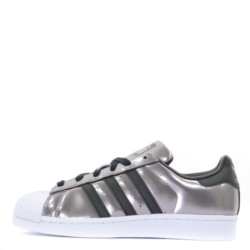 Superstar baskets femme Adidas gris métallisé noir | Espace des Marques